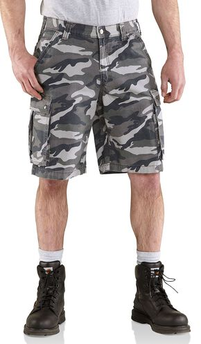 Carhartt Rugged Cargo Camo Shorts, Grey Camo, hi-res