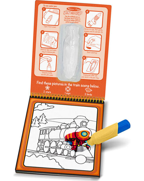 Melissa & Doug Water WOW On The Go Travel Activity Set , No Color, hi-res