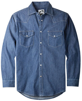 Mountain Khakis Men's Dark Indigo Original Mountain Denim Shirt , Navy, hi-res