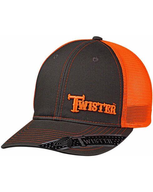 Twister Men's Grey Brand Text Baseball Cap , Orange, hi-res