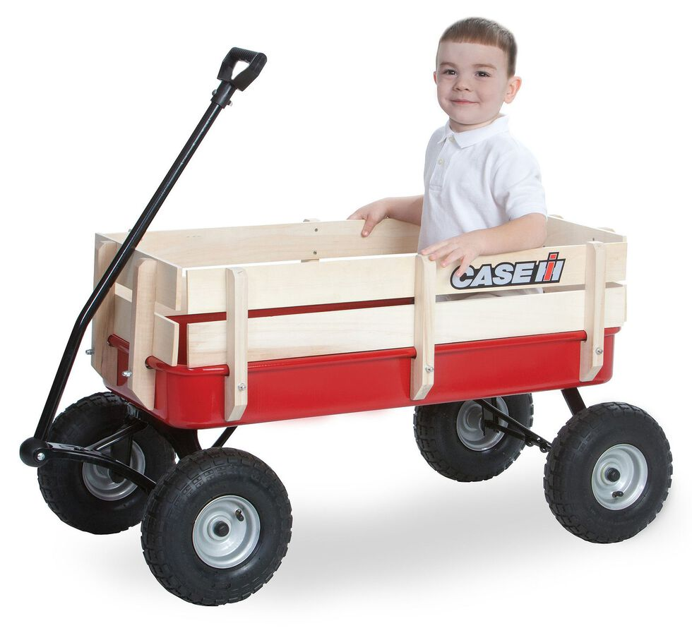 Case IH Red Steel Stake Wagon, Red, hi-res