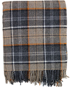 Pendleton Eco-Wise Wool Fringed Throw, Grey, hi-res