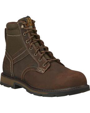 """Ariat Men's 6"""" Groundbreaker Waterproof Work Boots - Steel Toe, Dark Brown, hi-res"""