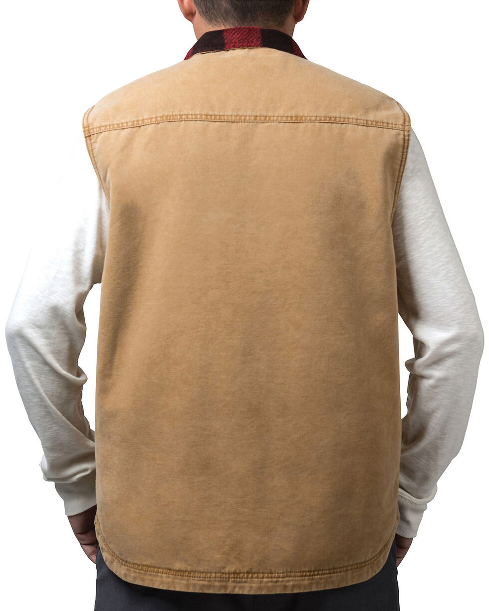Walls Men's Pecos Vintage Duck Vest, Pecan, hi-res