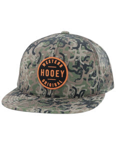 HOOey Boys' Camo Youth Patch Ball Cap , Camouflage, hi-res