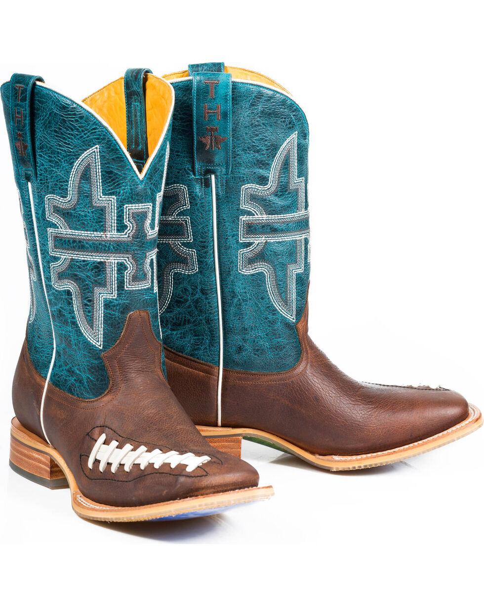 Tin Haul Men's Football Stadium Cowboy Boots - Square Toe, Brown, hi-res