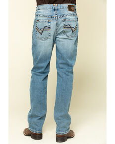 Ariat Men's M2 Orleans Light Stretch Stackable Relaxed Bootcut Jeans - Big , Blue, hi-res