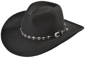 Outback Trading Co. Black Wallaby UPF50 Sun Protection Crushable Hat, Black, hi-res