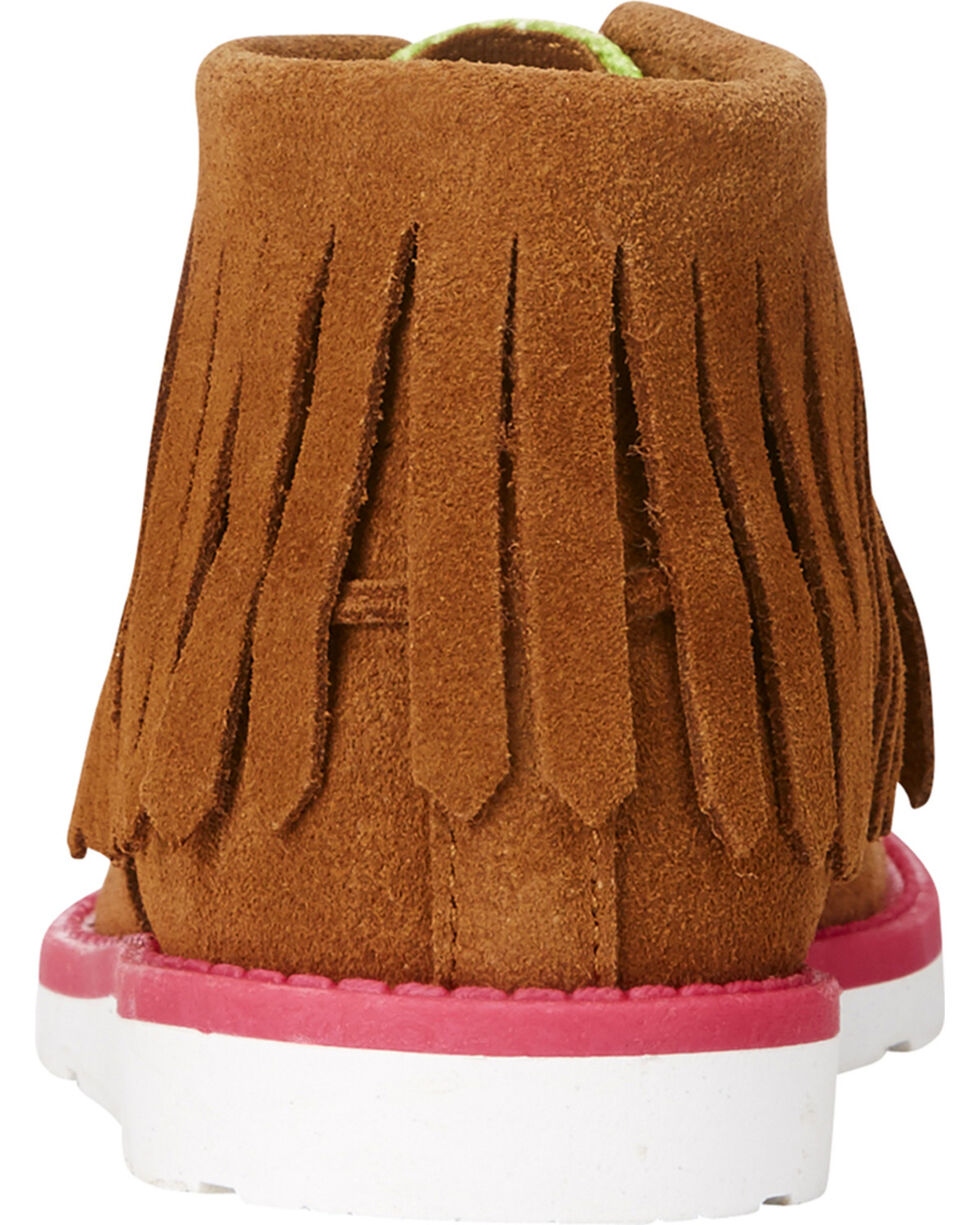 Ariat Girls' Serape Cruiser Fringe Shoes , Brown, hi-res