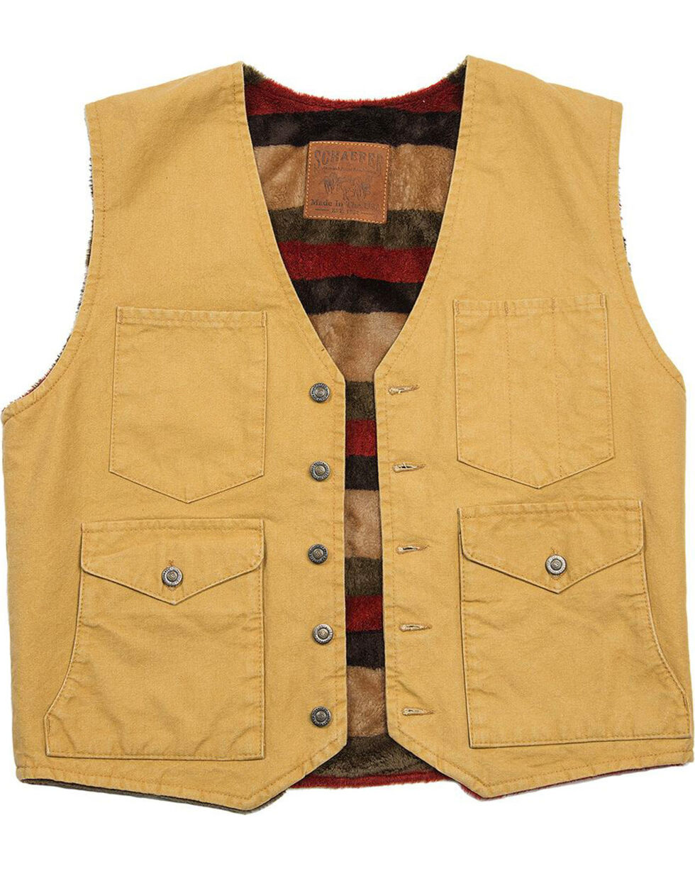 Schaefer Outfitter Men's Suntan Blanket Lined Mesquite Vest - Big 3X, Tan, hi-res