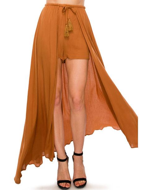 HYFVE Women's Romper Skirt, Brown, hi-res