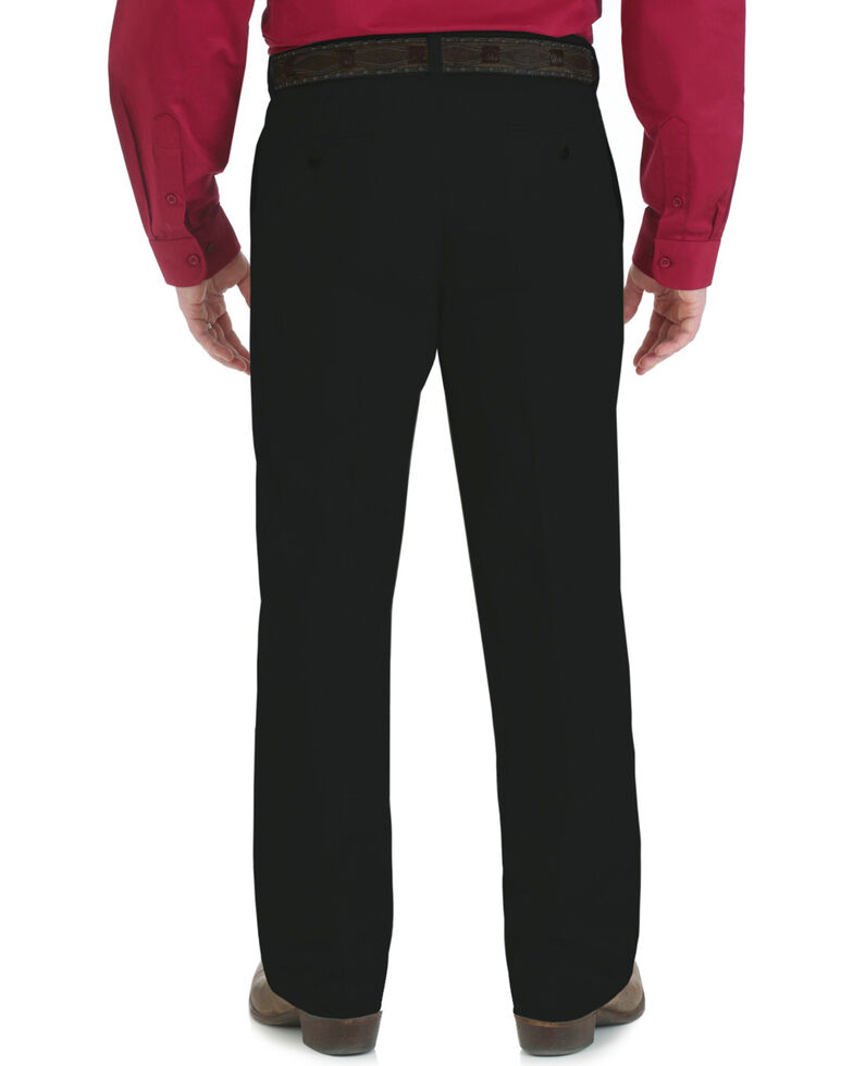 0e5168a5 Zoomed Image Wrangler Men's Riata Flat Front Relaxed Casual Pants, Black,  hi-res