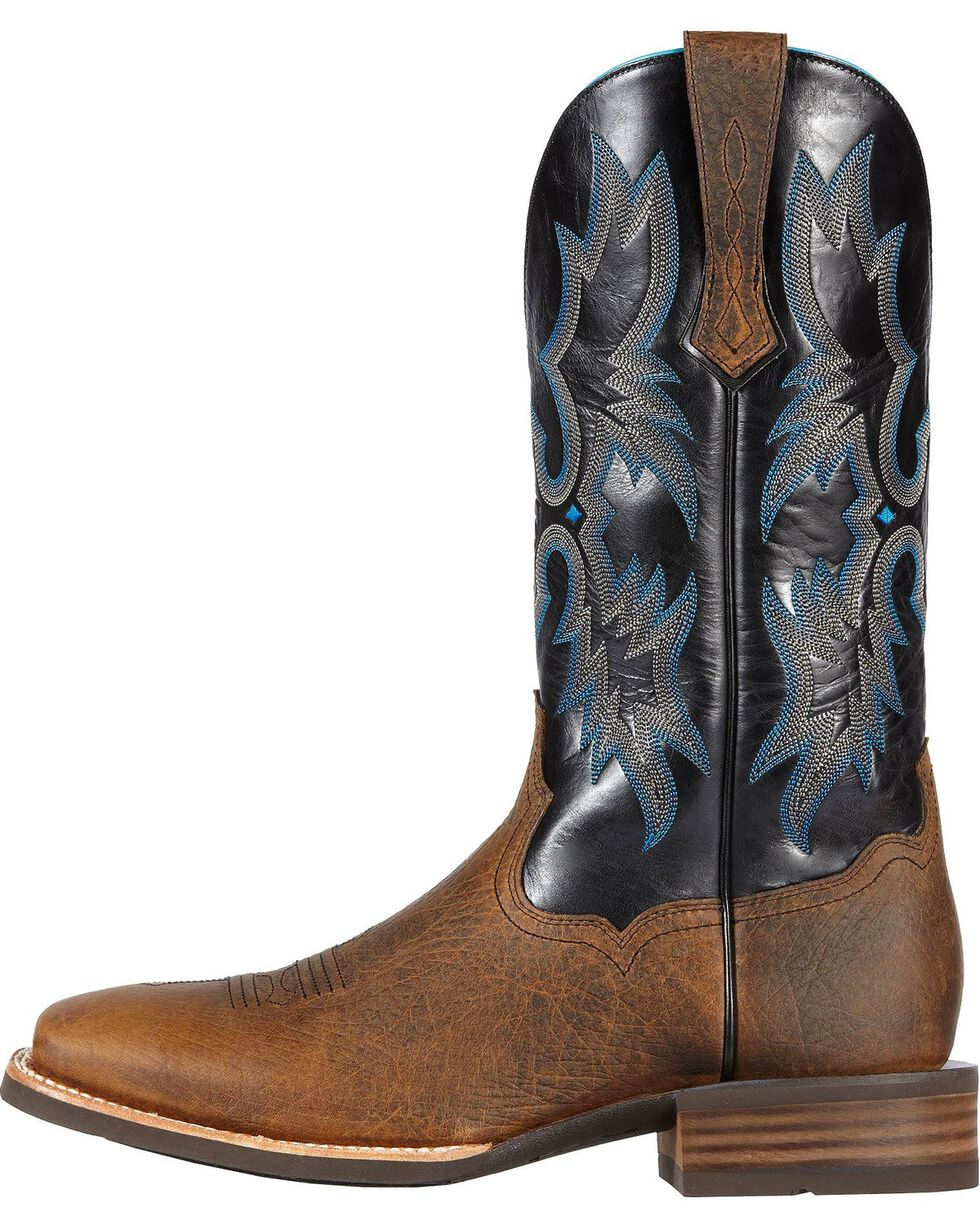 Ariat Tombstone Cowboy Boots - Wide Square Toe, Earth, hi-res
