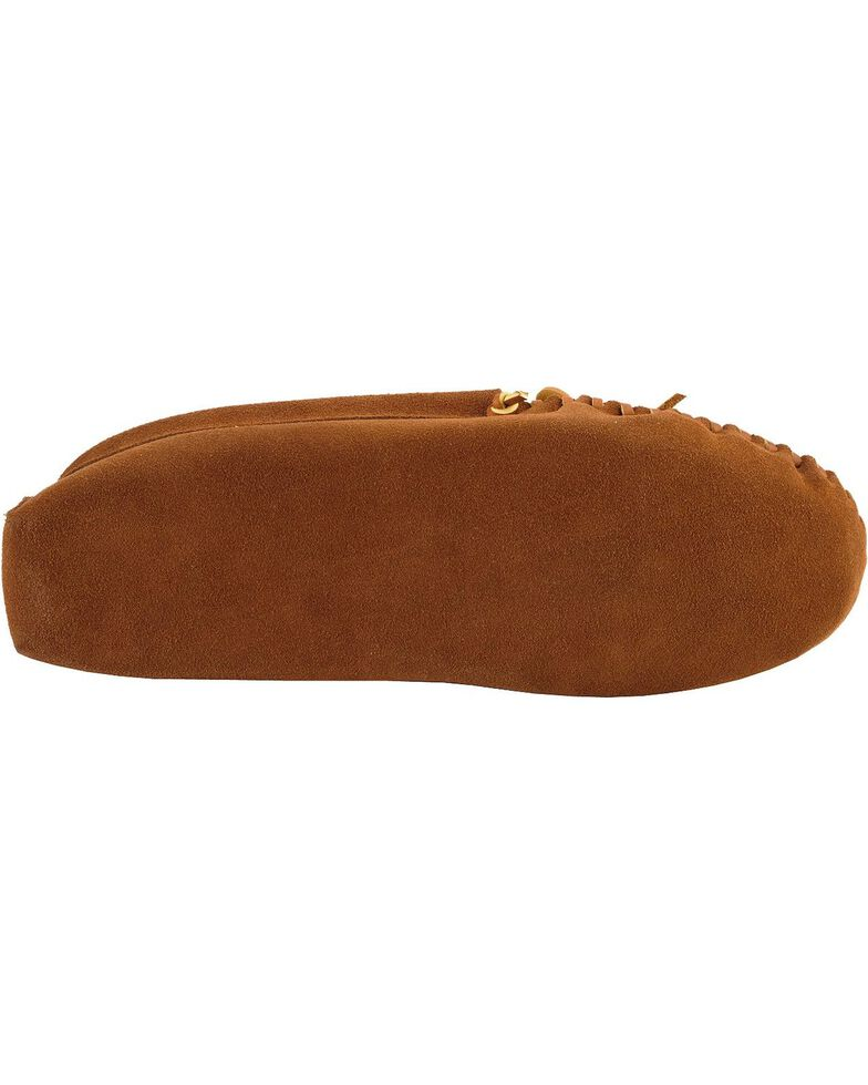 Minnetonka  Suede Camp Moccasins, Brown, hi-res