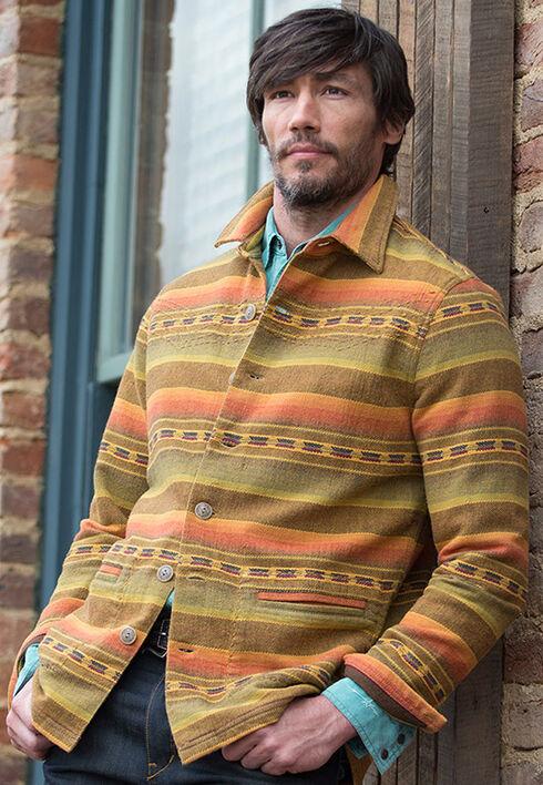 Ryan Michael Men's Gold Stripe Jacquard Jacket, Tan, hi-res