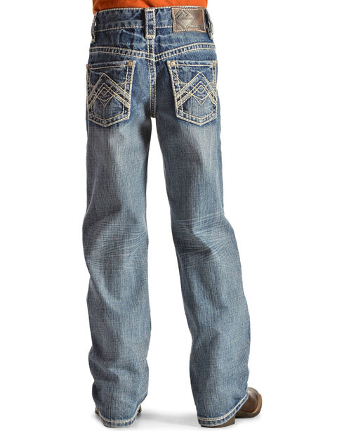 Rock and Roll Denim BB Gun Embroidered Jeans, Denim, hi-res