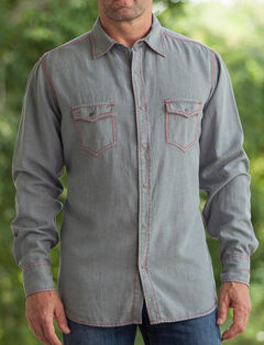 Ryan Michael Men's Birdseye Dobby Shirt, Slate, hi-res