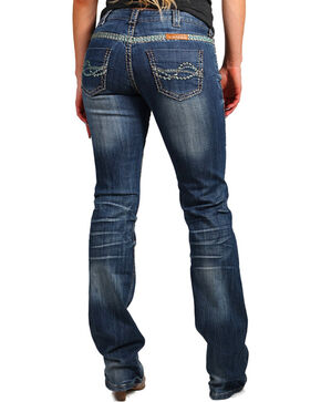 Cowgirl Tuff Women's Trailblazer Boot Cut Jeans, Indigo, hi-res