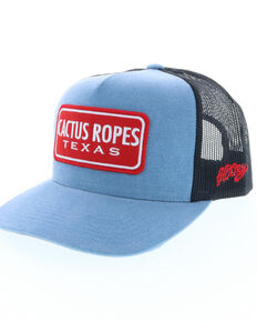 best service 26c3a bb014 HOOey Mens Blue Cactus Ropes Trucker Cap, Blue, hi-res