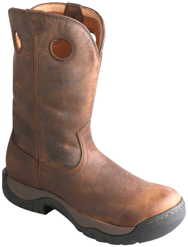 Twisted X Taupe Waterproof All Around Cowboy Boots - Round Toe, Taupe, hi-res
