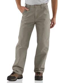 Carhartt Double Duck Dungaree Fit Work Pants - Big & Tall, Desert, hi-res