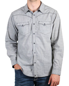 Cody James Men's Dark Shadow Long Sleeve Shirt, Grey, hi-res