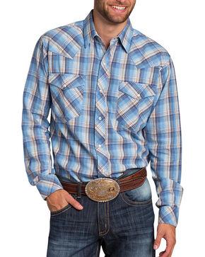 Resistol Men's Casper Plaid Long Sleeve Shirt, Blue, hi-res