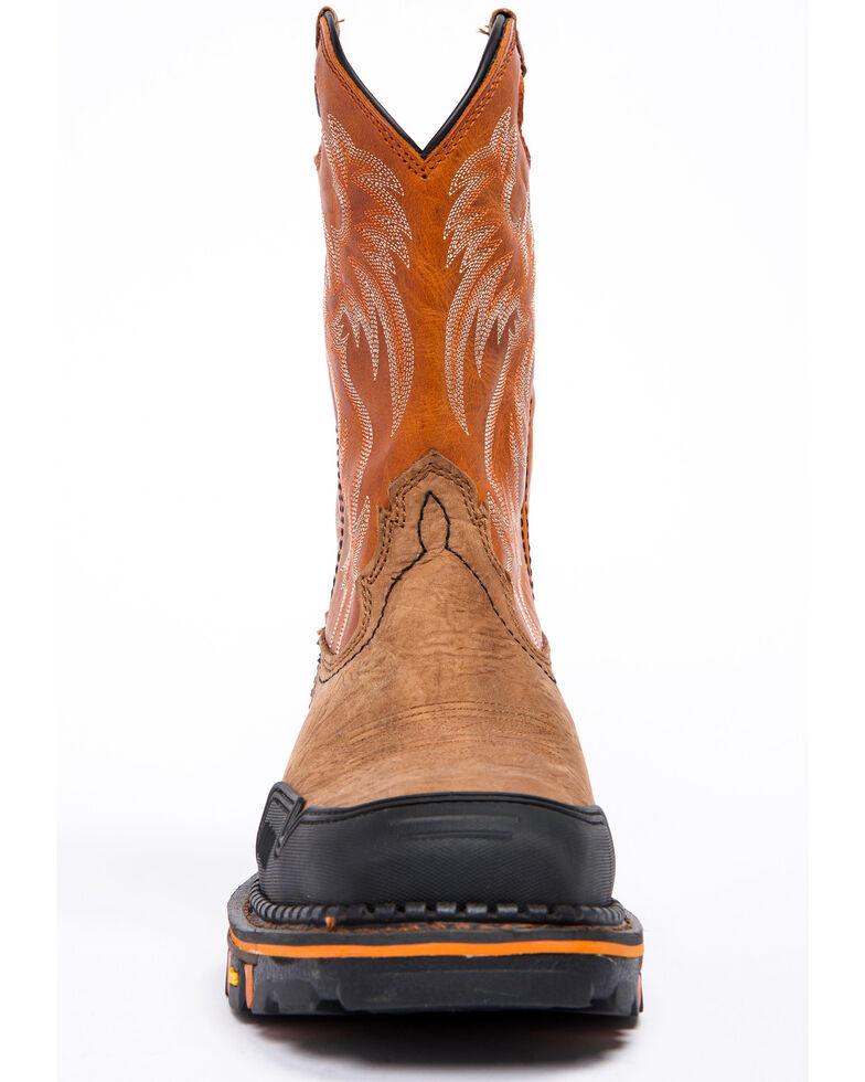 Cody James Men's Decimator Orange Top Western Work Boots - Nano Composite Toe, Brown, hi-res