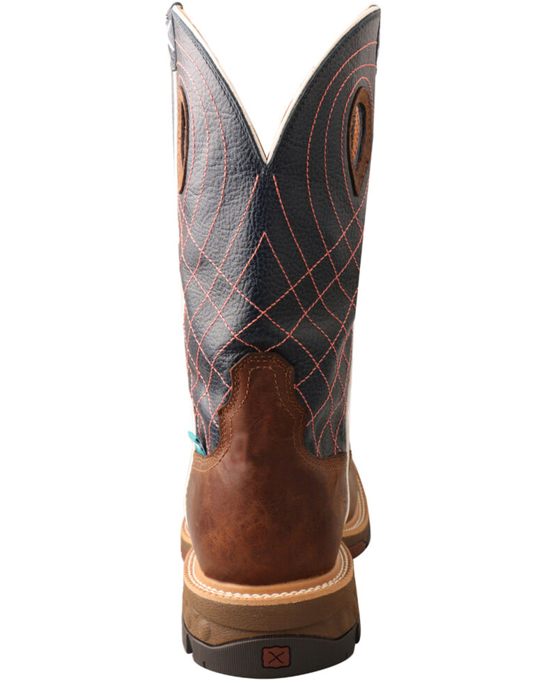 Twisted X Men's Waterproof CellStretch Western Work Boots - Soft Toe, Brown, hi-res