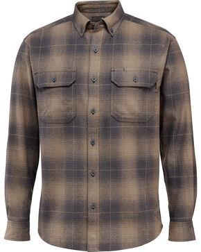 Wolverine Men's Redwood Heavyweight Flannel Shirt , Dark Grey, hi-res
