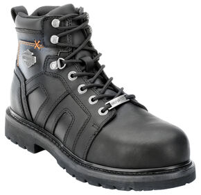 Harley Davidson Men's Chad Steel Toe Lace-Up Boots, Black, hi-res