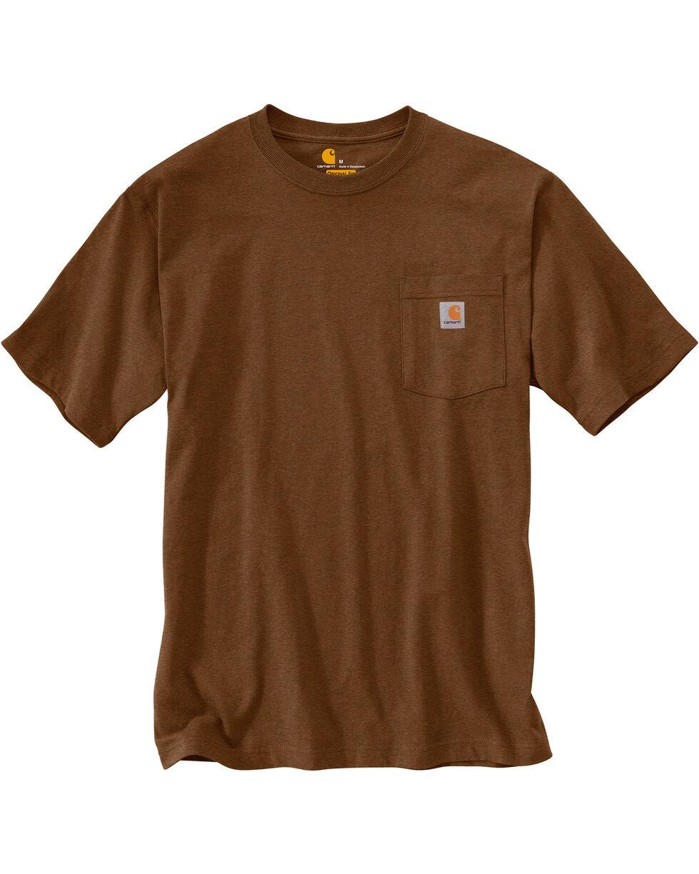 Carhartt Men's Workwear Pocket T-Shirt - Big & Tall, Brown, hi-res