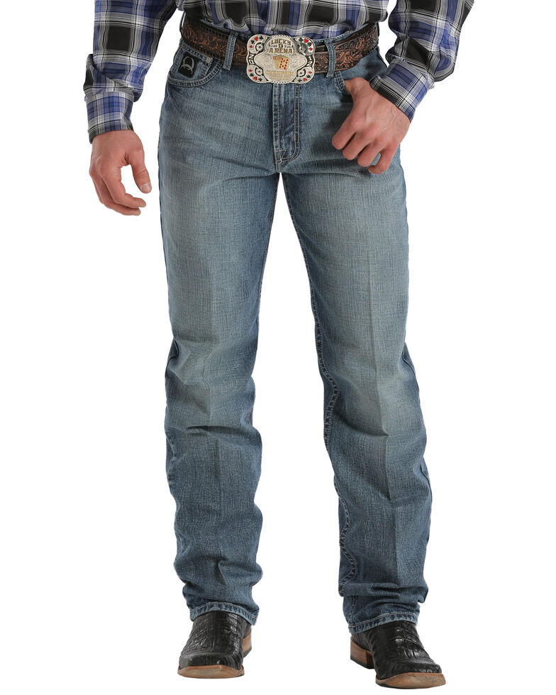 Cinch Men's Black Label Medium Wash Jeans - Big & Tall, Med Stone, hi-res