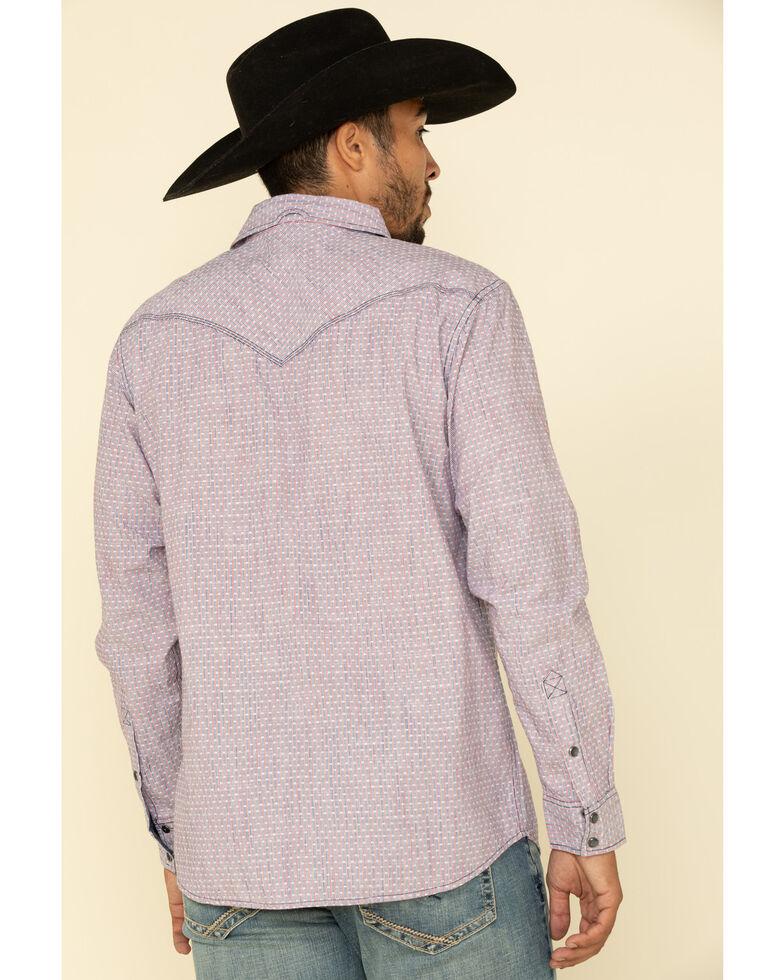 Moonshine Spirit Men's Bottle Rocket Geo Print Long Sleeve Western Shirt , White, hi-res