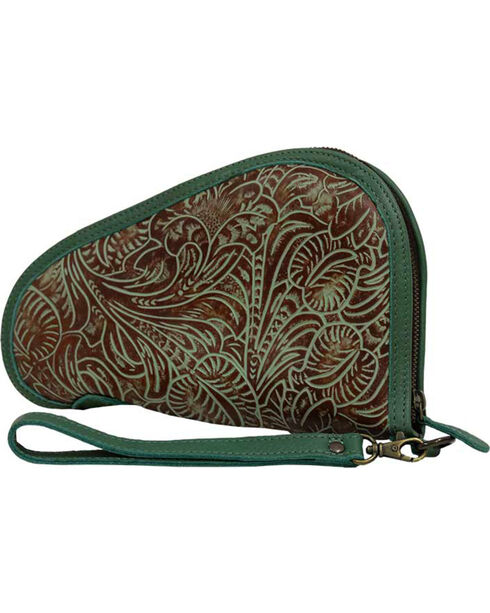 STS Ranchwear by Carroll Women's Green Floral Pistol Case , Light/pastel Green, hi-res