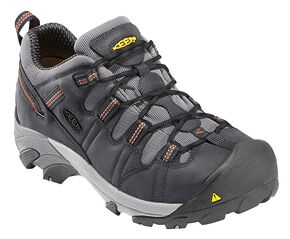Keen Men's Detroit Low Shoes - Steel Toe, Dark Grey, hi-res