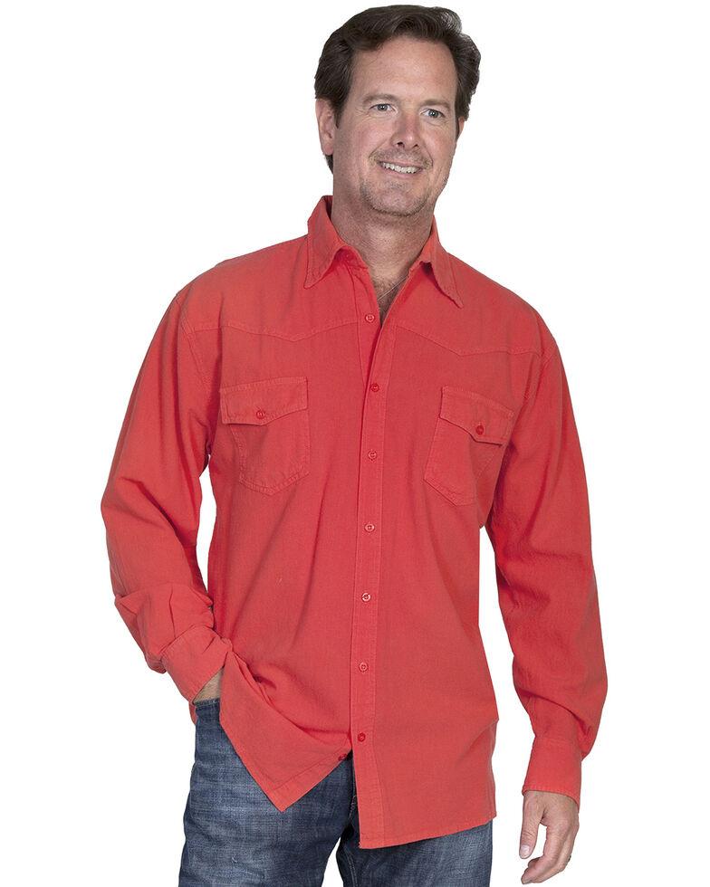 Scully Cantina Western Yoke Shirt, Cayenne, hi-res