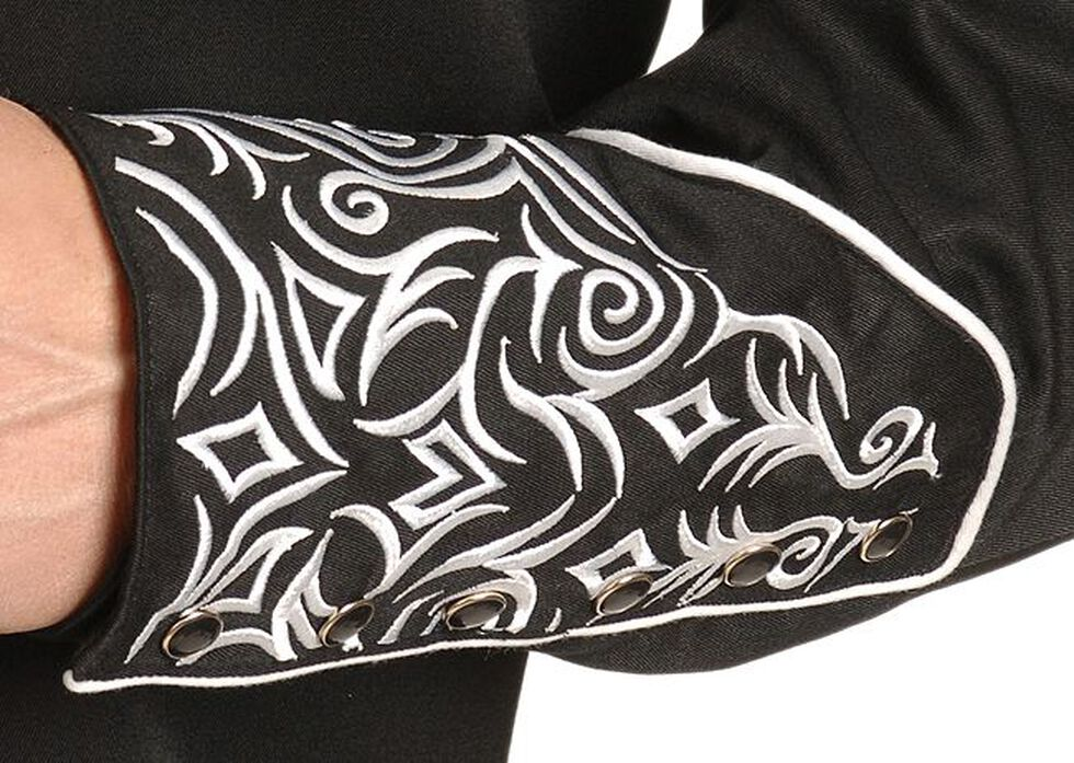 Scully Fancy Full Stitched Retro Western Shirt - Big & Tall, Black, hi-res