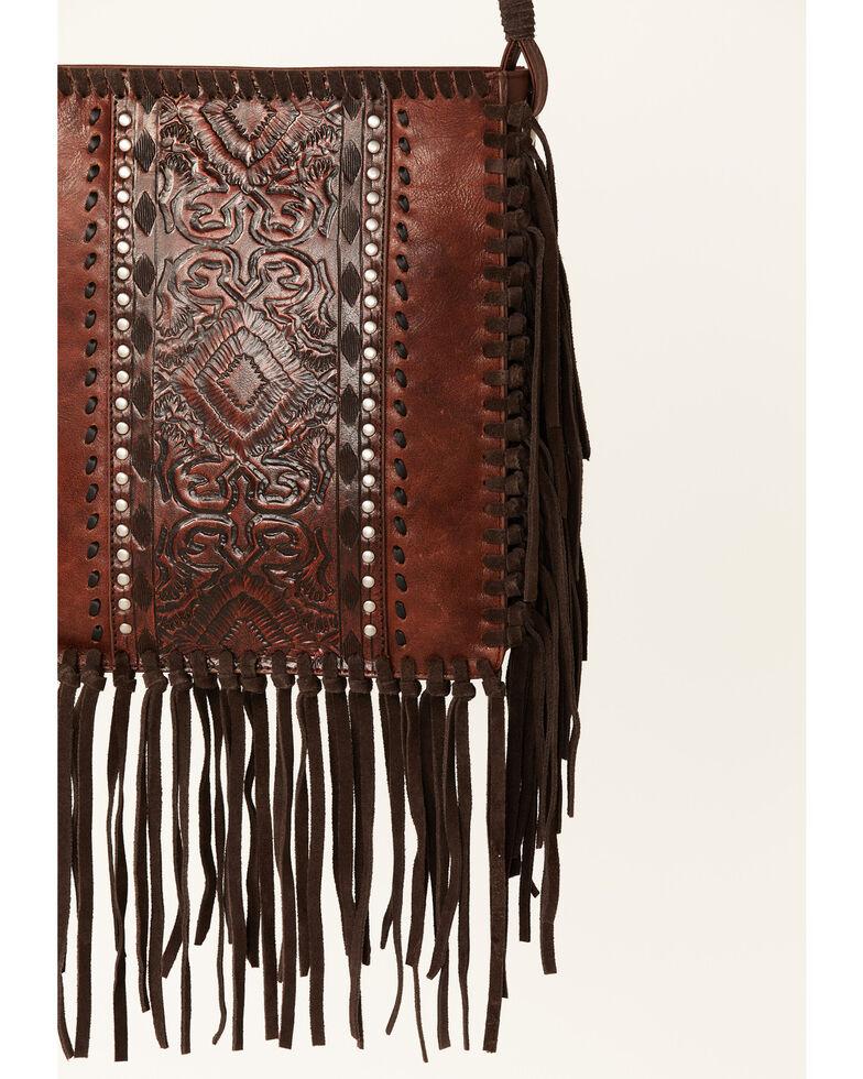 Shyanne Women's Layla Aztec Panel Tote Bag, Cognac, hi-res