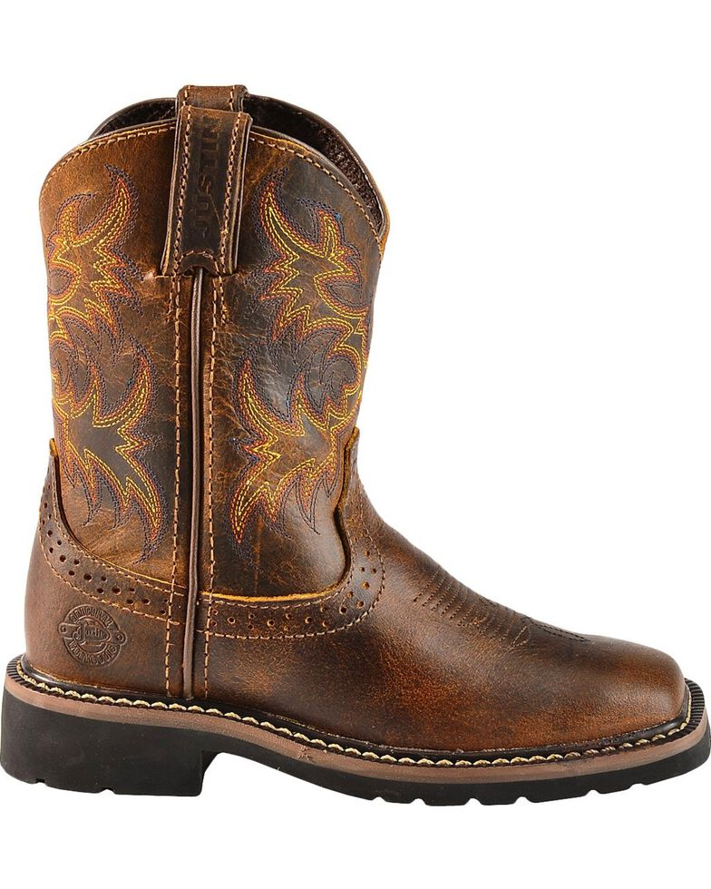 Justin Boys Stampede Work Boots Square Toe Sheplers
