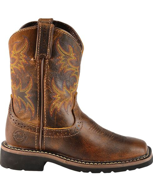 Justin Youth Boys' Stampede Work Boots - Square Toe, , hi-res