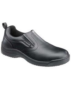 SkidBuster Women's Black Slip-On Work Shoes, Black, hi-res