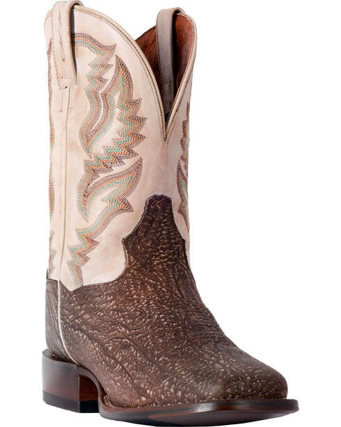 Dan Post Men's Ironwood Croc Shoulder Cowboy Certified Boots - Square Toe, Brown, hi-res