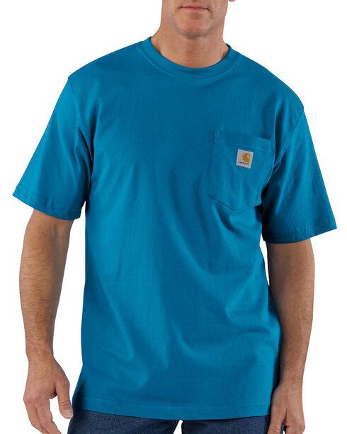 Carhartt Men's Workwear Pocket T-Shirt - Big and Tall, Blue, hi-res