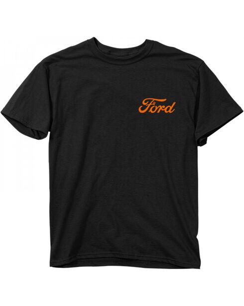 Buck Wear Men's Black Ford Camo Skull Tee, Black, hi-res