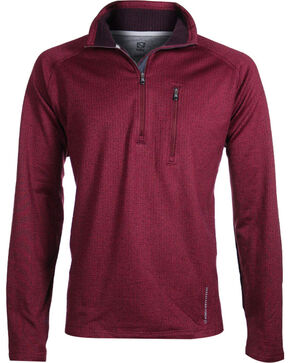 Noble Outfitters Men's Performance Fleece Half Zip Jacket, Burgundy, hi-res