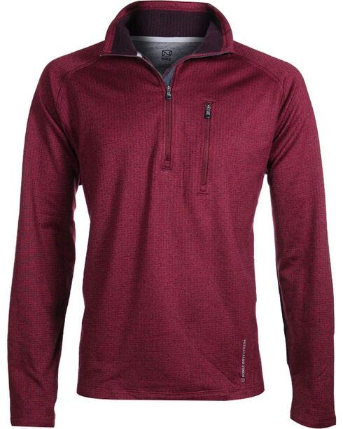 Noble Outfitters Men's Performance Fleece Half Zip Jacket, Burgundy, hi-res