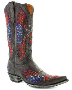 Old Gringo Women's Eagle Crystals Western Boots - Snip Toe, Red/white/blue, hi-res