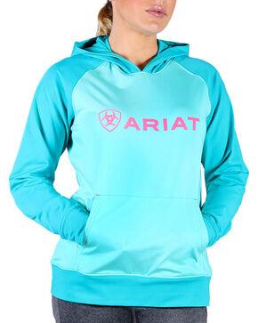 Ariat Women's Aqua Tek Pullover Hoodie , Aqua, hi-res