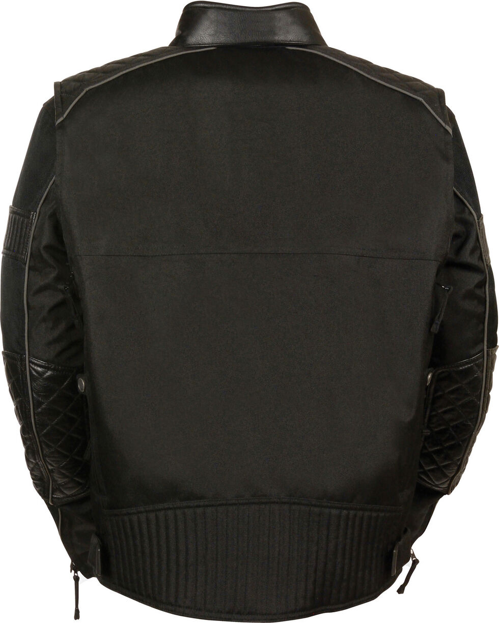 Milwaukee Leather Men's Black Textile Scooter Jacket - 5X, Black, hi-res